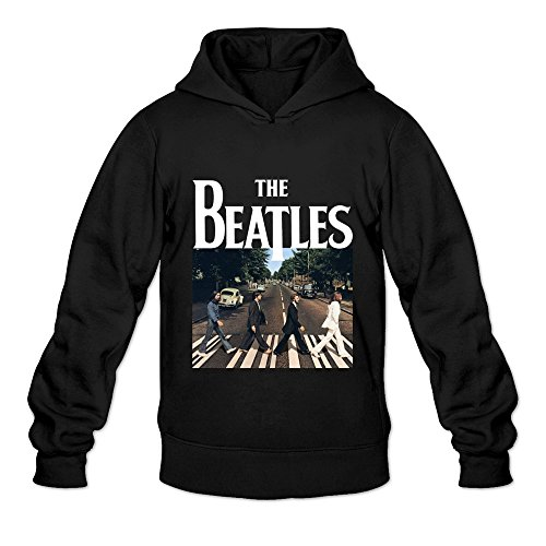Seico Mens The Beatles Rock Band Sweatshirt Hoodie Black Size S