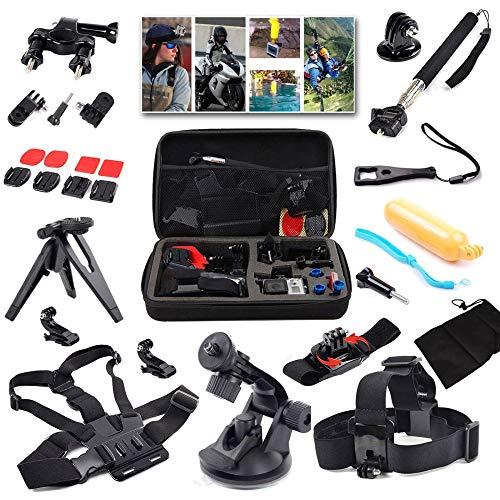 WANGOFUN Gopro Accessories Kit, Action Camera Accessories Kit 15 in 1 Sports Camera Accessories Set for GoPro Hero 7/6/5/SJ4000