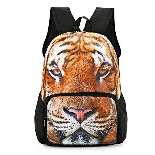 St.Roma - Bolso mochila  de Lona para mujer Talla única tigre