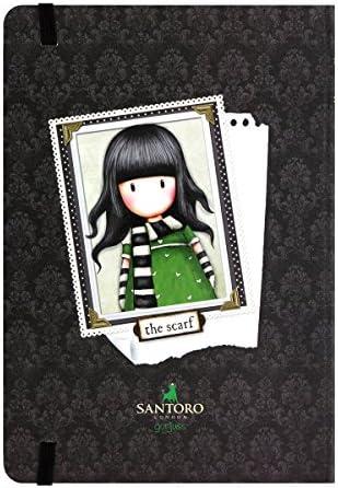 Santoro–Notizbuch Hardcover 230ec45Gorjuss grün