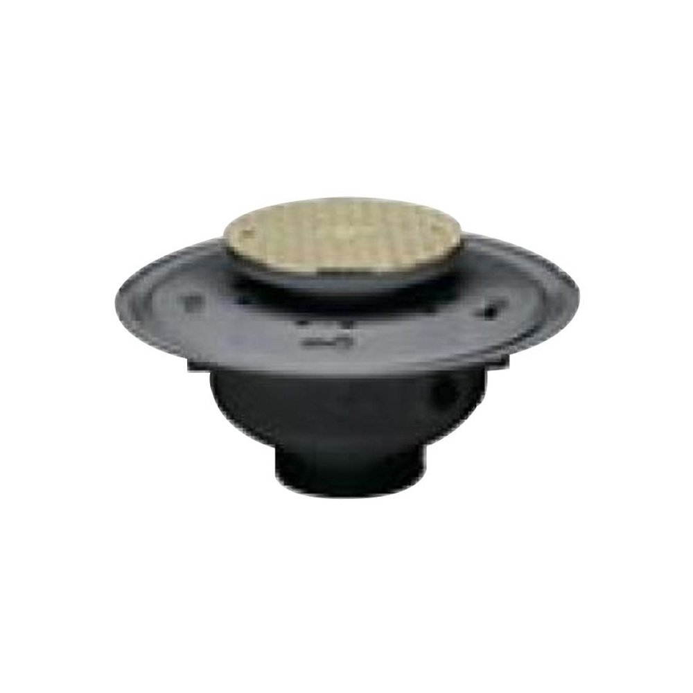 Oatey 74124 PVC Adjustable Commercial Cleanout with 6-Inch BR Cover 4-Inch