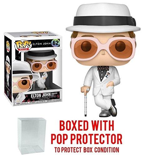Funko Pop Music  Elton John Greatest Hits Vinyl Collectible Figure   Pop Protector