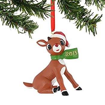 Department 56 Rudolph Christmas Rudy Dated Scarf 2015 Ornament