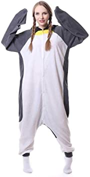 JIAWEIDAMAI Kigurumi Pijama de pingüino Gris Oscuro para Fiesta ...