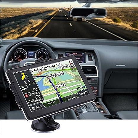 yuyitec coche navegación GPS 7 pulgadas 8 GB capacitiva Pantalla táctil sistema vehículo GPS Sat Nav incluye General Europa Mapas: Amazon.es: Electrónica