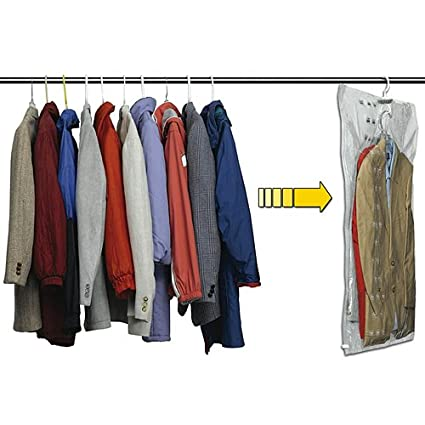 a83fcb430695 Image Unavailable. Image not available for. Color  Vacuum Sealing Hanging  Suit Storage Bag ...