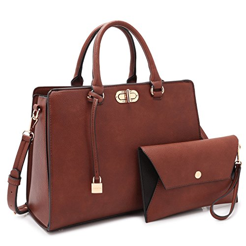 (Maya Karis Purse Designer Bag for Women, Twist-Lock Lady Satchel w/Pouch Teen Girl Summer Bag 7581 CF)