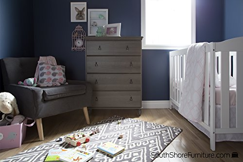 South Shore Moonlight 4-Drawer Chest, Gray Maple