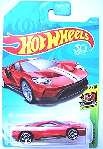 - Hot Wheels 2018 50th Anniversary HW Exotics '17 Ford GT 240/365, Red