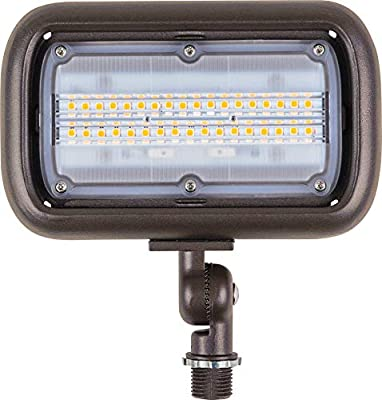 """Newhouse Lighting 15W Outdoor LED Flood Light Bundled with 17"""" Mounting Post"""