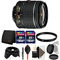 Nikon AF-P DX NIKKOR 18-55mm f/3.5-5.6G VR Lens for Nikon DSLR Cameras w/ Accessory Kit