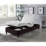Home Life Electric Adjustable Platform Bed Frame with Remote Control - Linen Brown - Full