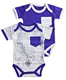 Cat & Dogma - Certified Organic Infant Baby Clothing Bunny Coral Bodysuit Pack