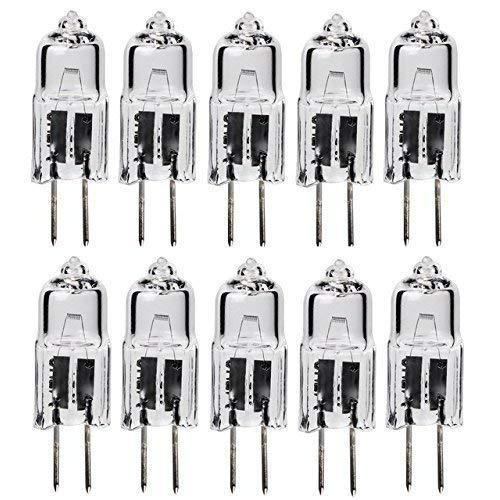 Classic Light Bulb - JC 50 Watt Halogen GY6.35 Bi Pin Lamp (12V) Low Voltage (10 Pack) (50 - 50w Halogen Lamp