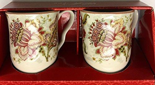 222 Fifth Gabrielle Cream Coffee Mugs - Set of 2