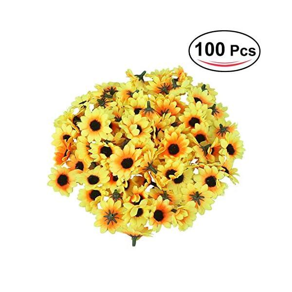 50//100pcs DIY Artificial Gerbera Daisy Flower Heads Sunflower Wedding Decoration