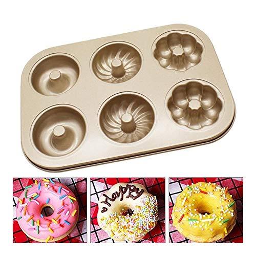Creative 3 Patterns Donut cakevorm Non Stick Carbon Steel Fondant Cake DIY Bakken Tools Pan Donut Cake Brood Vormen