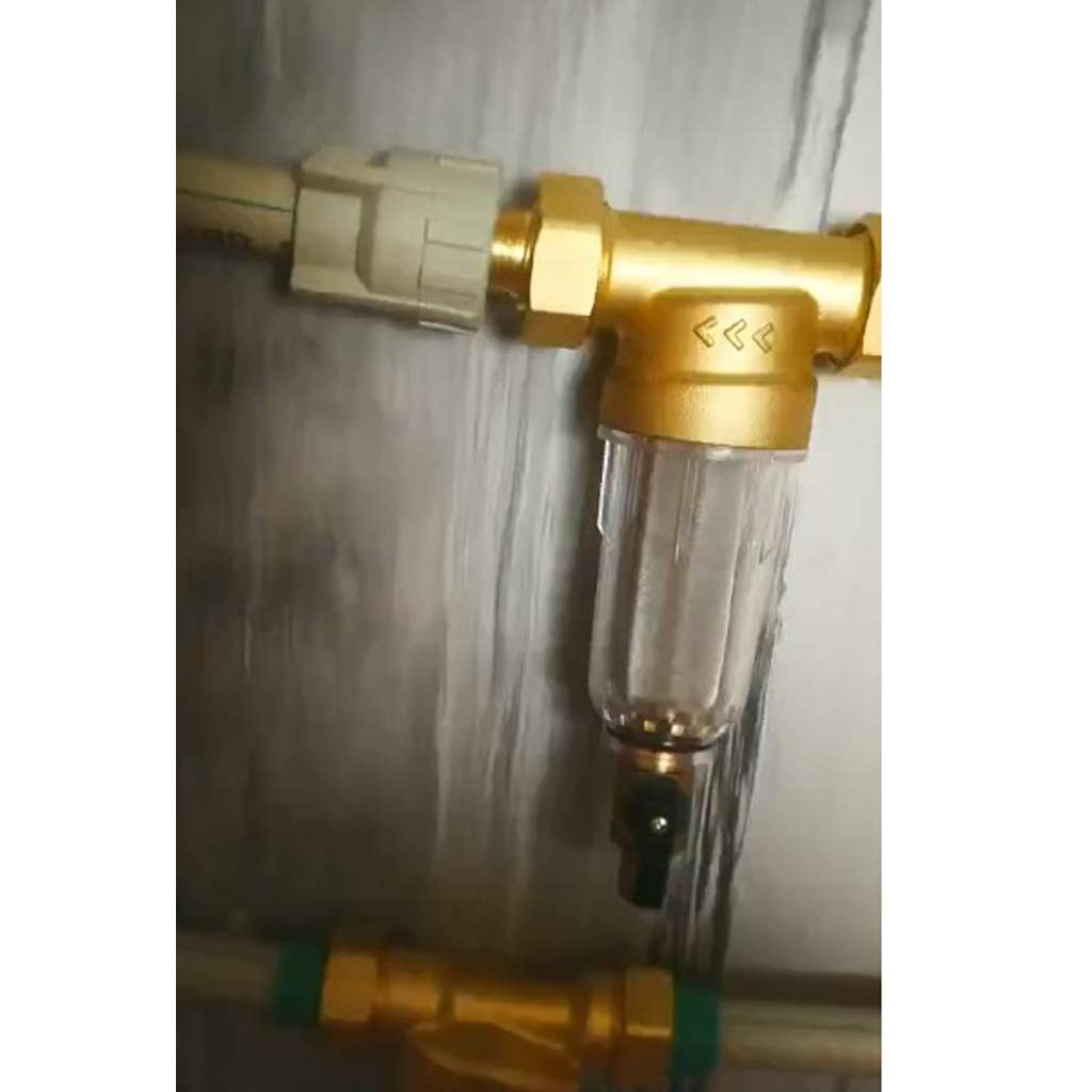 Brass Whole House Sediment Water 1//2-inch FNPT Filter System Clear