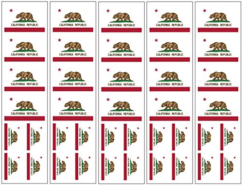 40 Tattoos: California Republic State Flag, Party - California Tattoos