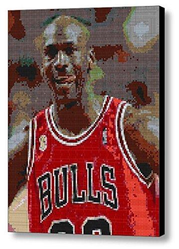 Amazon.com: Michael Jordan Chicago Bulls Lego Brick Framed ...