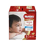 Huggies Little Snugglers Baby Diapers, Size 5, 62 Count, GIGA JR Pack (Packaging May Vary)