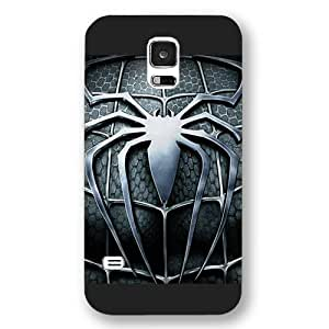 New Zeng Customized Marvel Series Case for Samsung Galaxy S5, Marvel Comic Hero Spider Man Logo Samsung Galaxy S5 Case, Only Fit for Samsung Galaxy S5 (Black Frosted Case)