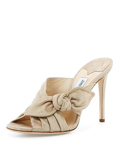 big discount cheap price Jimmy Choo Bow Slide Sandals 100% authentic for sale sale shop giqxe0Wfww