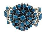 .925 Sterling Silver Native American Handmade Jewelry Kingman Turquoise Cuff