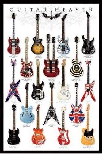 1art1® 48473 - Póster (91 x 61 cm), diseño de guitarras: Amazon.es: Hogar