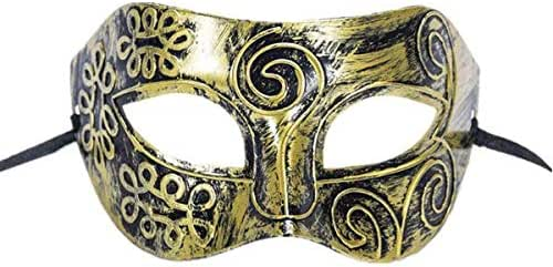 Ancient Rome Warrior Bronze Mask for Halloween Masquerade Prom Party Accessories