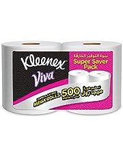 Kleenex VIVA MAXI, House Hold Tissue - Pack of 2 x 250 Meter Maxi Rolls