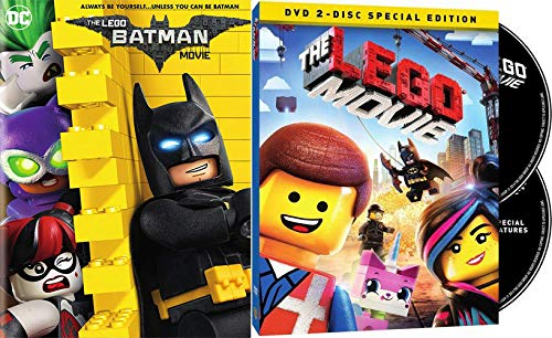 The Wild World Of Lego Bricks: The Lego Batman Movie + The Lego Movie Original Theatrical 2 Disc Special Edition Double Feature Bundle (Lego Wreck It Ralph)
