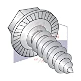 10-16X1/2 Type AB Self-Tapping Screws | Unslotted | Hex Washers Head | 18-8 Stainless Steel | Serrated (QUANTITY: 4000)