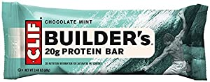 Clif Bar Builder Bar, Chocolate Mint, 2,4-Unzen-Barren, 12 Count