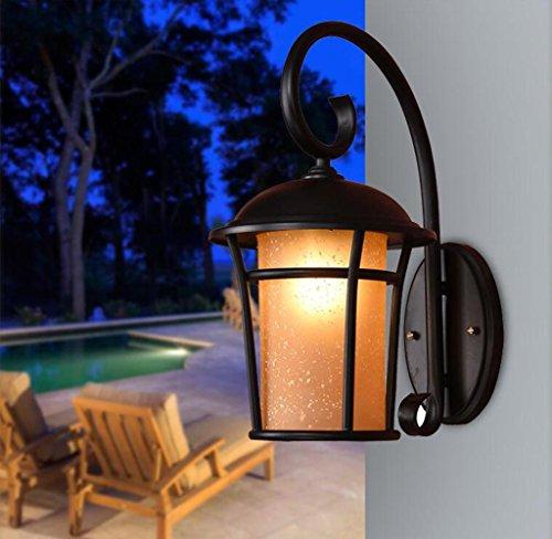Outdoor Half Lantern Wall Light - 8