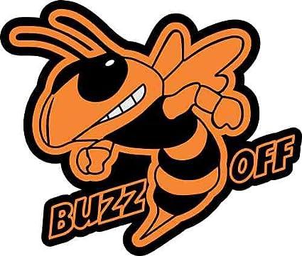 Amazon Com 3 75in 2 75in Orange Left Buzz Off Hornet Sticker