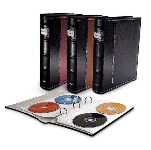 Bellagio-Italia CD/DVD Storage Binders-3 Pack Black New