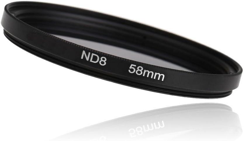 3pcs//lot 58mm Neutral Density ND2 ND4 ND8 Filter Set 58 mm Camera Lens ND filtros for Canon 600D 550D 450D Rebel T4i T3 18-55mm