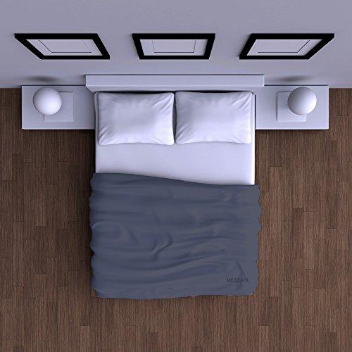 Mezzati Luxury Flat Sheet - Sale - Best, Softest, Coziest Sheets Ever! 1800 Prestige Collection Brushed Microfiber Bedding (Blue, King)