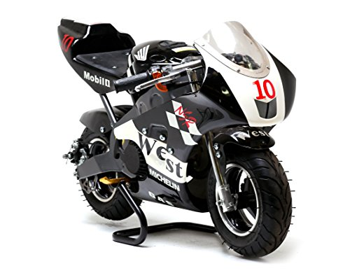 FunBikes MT4A 50cc 46cm Mini Moto Racing Bike 3 colours designs (Black WE)