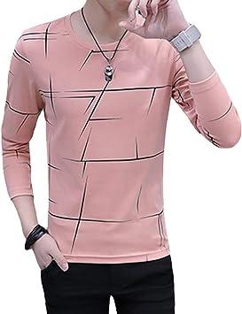 Momangel Camisa De Primavera con Bandido A Rayas Juvenil Marea con Tres Colores Opcionales Pink L: Amazon.es: Electrónica