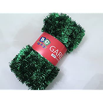 extra large green foil tinsel christmas garland 708 59 feet by blue green - Green Christmas Garland