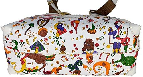 Borsa A Spalla Piero Guidi Nadia Donna Bianco Magic Circus Soft Tote Bag Woman White