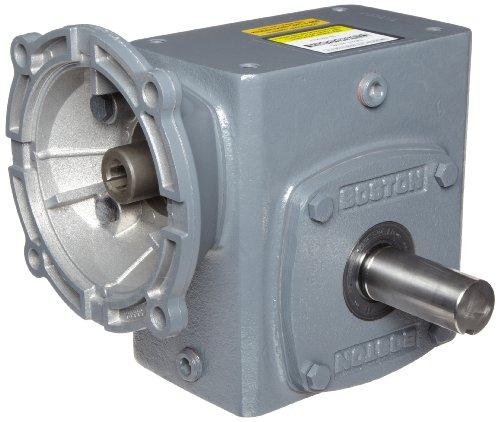 "Boston Gear F72410KB7J Right Angle Gearbox, NEMA 140TC Flange Input, Left Output, 10:1 Ratio, 2.38"" Center Distance, 3.18 HP and 1069 in-lbs Output Torque at 1750 RPM"