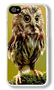 Baby Owl Custom iPhone 5s Case Back Cover, Snap-on Shell Case Polycarbonate PC Plastic Hard Case Transparent