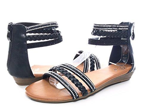 Damen Sandalen Schwarz # 6721