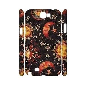 Sun Moon Pattern Customized 3D Cover Case for Samsung Galaxy Note 2 N7100,custom phone case ygtg543825 Kimberly Kurzendoerfer