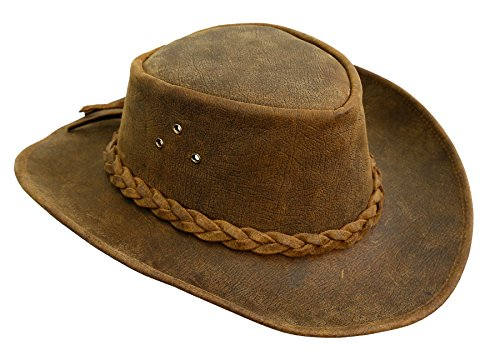KakaduTraders Australia Bulldog Leather Hat With shapeable Brim, 2nd Choice - Leather Dog Cap