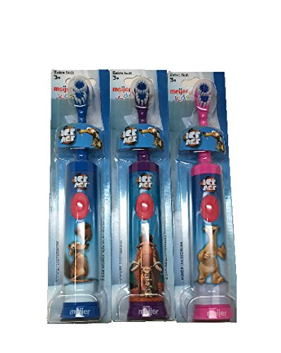 Meijer battery powered toothbrush Ice age, 3 Pack