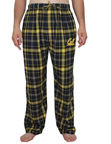 Athletic-pants BIG & TALL MENS NCAA California Golden Bears: Fall/Winter Plaid Pajama Pants 2XL Dark Blue California Mens Dark Pajamas